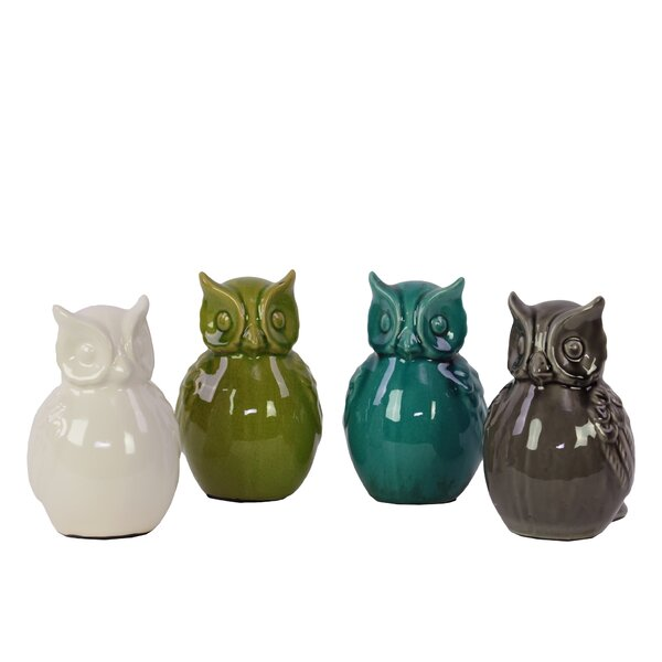 Ceramic Owl Assortment (Set of 4) by Urban Trends