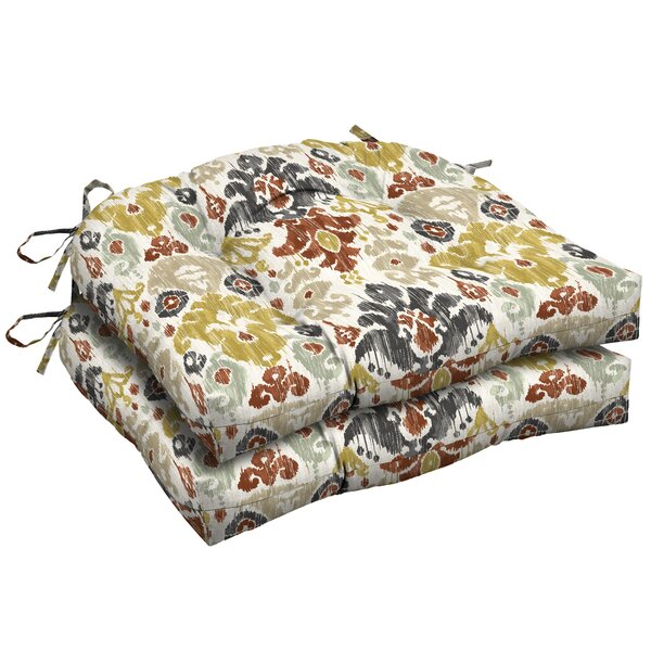 Ikat Outdoor Dining Chair Cushion (Set Of 2) By Bungalow Rose