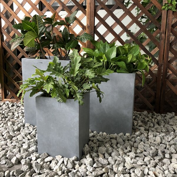 Gaskins Tall Square 3-Piece Planter Box Set by Williston Forge