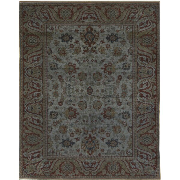 Oriental Hand-Knotted Wool Lilac Area Rug
