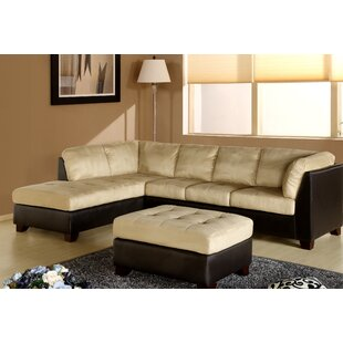 Ranjan Sectional with Ottoman Red Barrel Studio