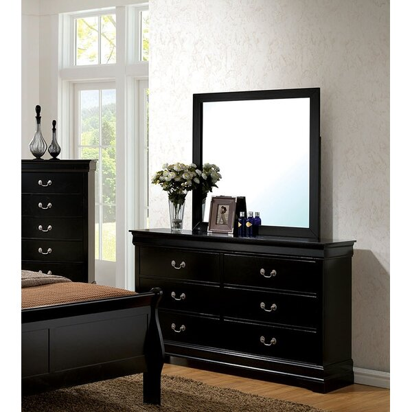 Poulos Rectangular Dresser Mirror by Charlton Home