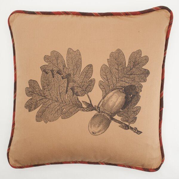 Large Oak Leaf Down Throw Pillow by Provence Home Collection