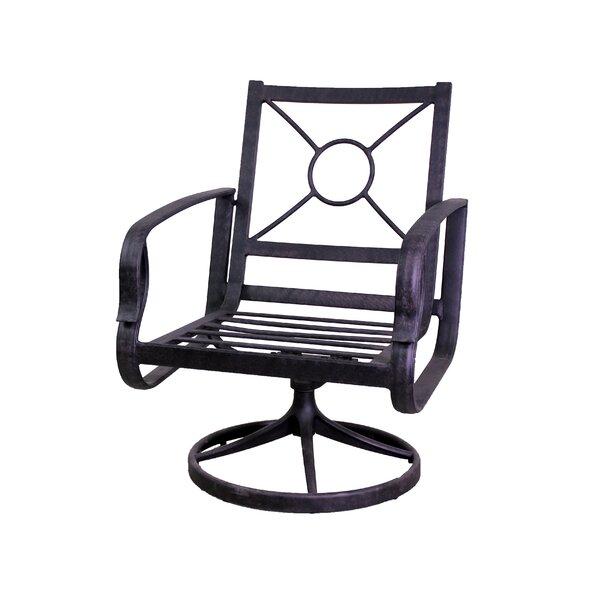 Waynesburg Swivel Patio Dining Chair (Set of 2) by Red Barrel Studio Red Barrel Studio