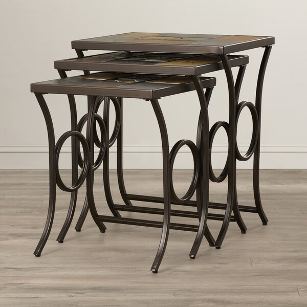Poythress 3 Piece Nesting Tables by World Menagerie