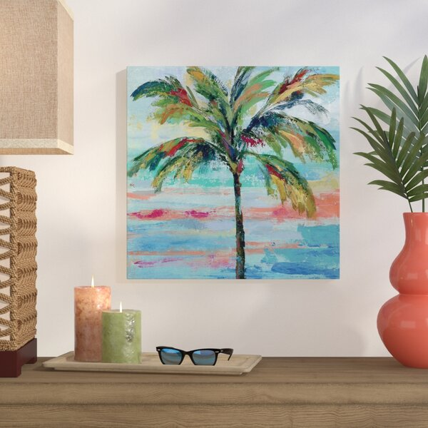 California Palm II Painting Print on Wrapped Canvas by Bay Isle Home