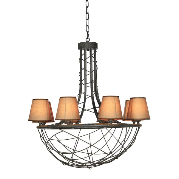 6 - Light Shaded Empire Chandelier By Ellahome