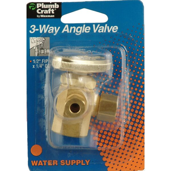 Low Lead 3-Way Angle Valve by Plumb Craft