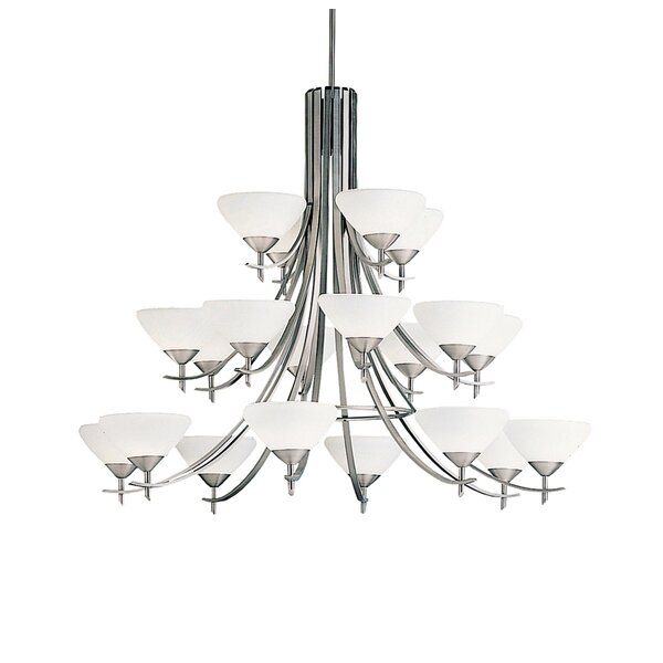 Barclay 20 - Light Shaded Tiered Chandelier by Canora Grey Canora Grey