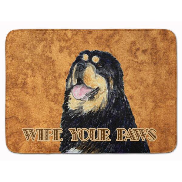 Testa Scary Bedlington Terrier Memory Foam Bath Rug By The