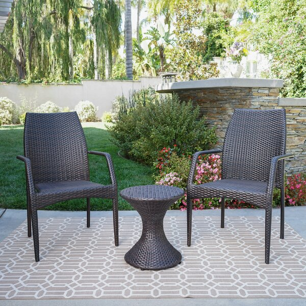 Paulsen 3 Piece Seating Group by Wrought Studio