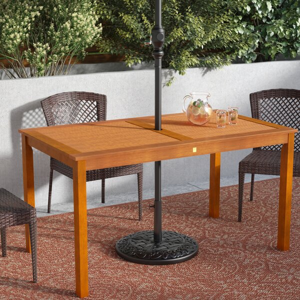 Cadsden Solid Wood Dining Table by Three Posts
