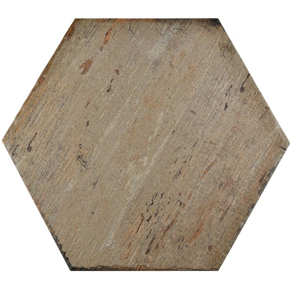Rama Hexagon 14.13 x 16.25 Porcelain Mosaic Tile in Brown by EliteTile