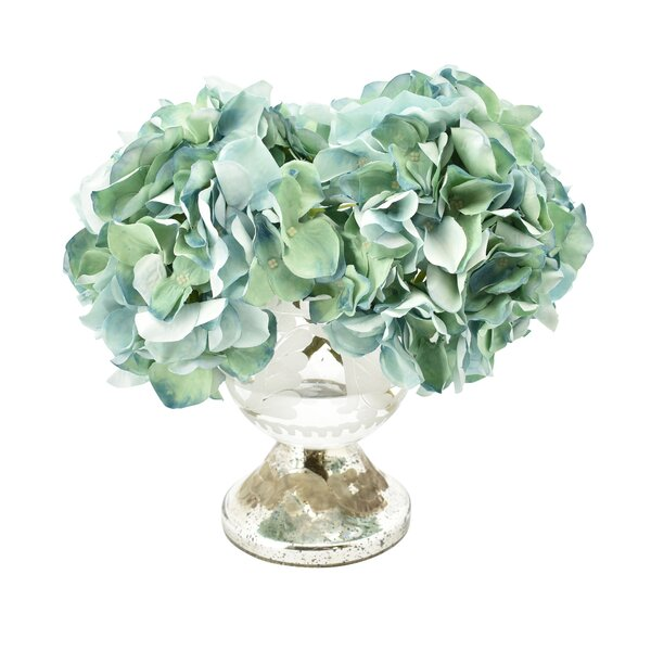 Bouquet Hydrangea Centerpiece in Decorative Vase by House of Hampton