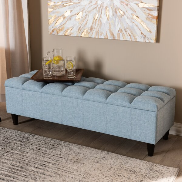 Quam Upholstered Storage Bench by Canora Grey Canora Grey