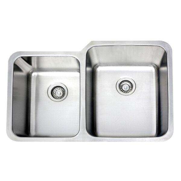 32 L x 21 W Double Undermount Kitchen Sink