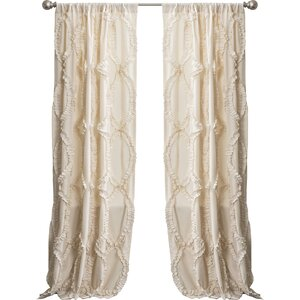 Eileen Solid Semi-Sheer Rod Pocket Single Curtain Panel