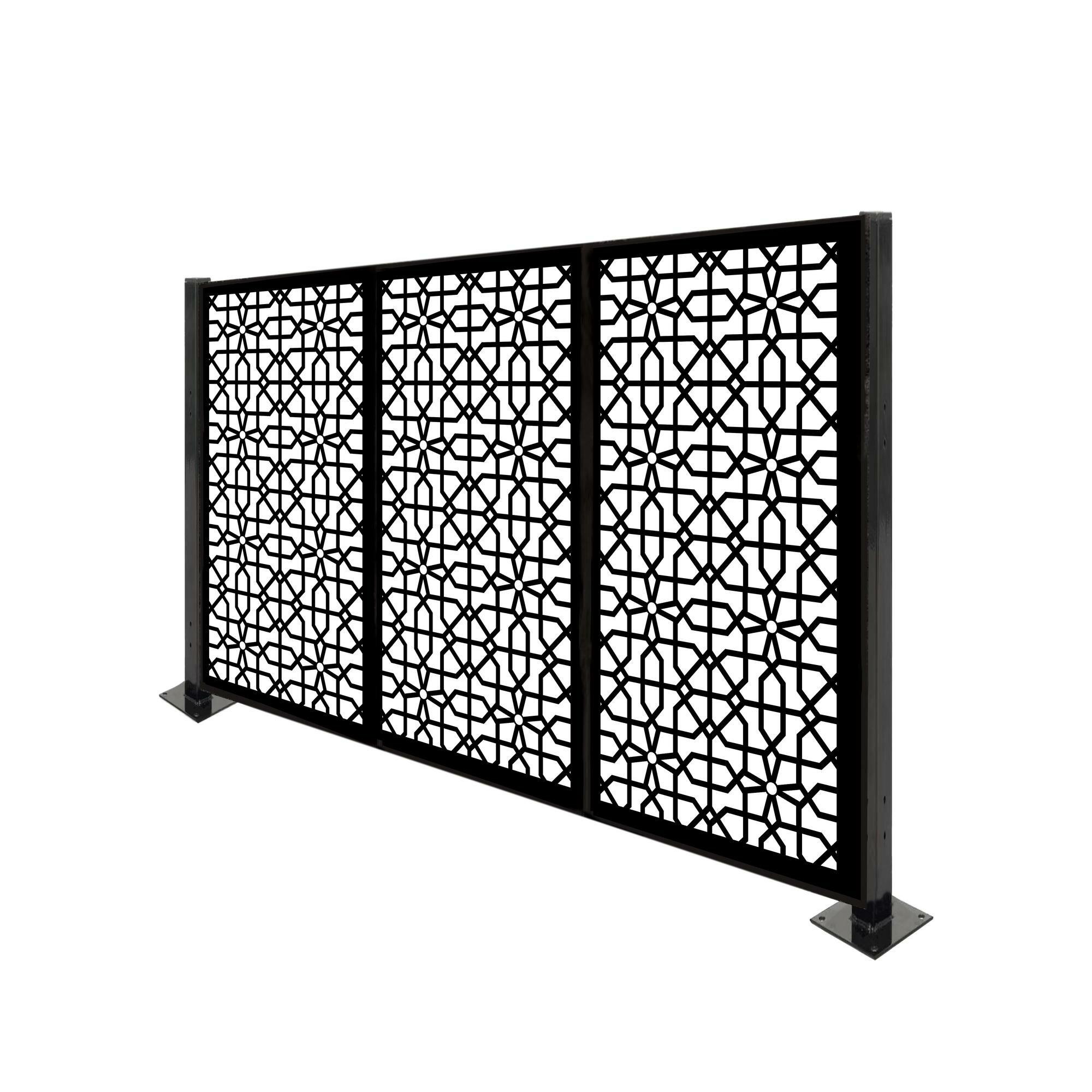 Porpora 4 Ft H X 6 Ft W Circle Knot Metal Fence Panel Wayfair