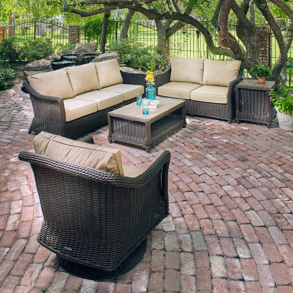 Breeze  5 Piece Sunbrella Seating Group with Cushion by Winston