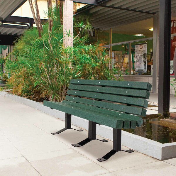 Carty Recycled Plastic Park Bench by Freeport Park