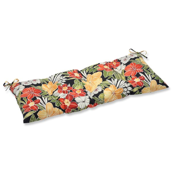 Clemens Noir Indoor/Outdoor Loveseat Cushion by Pillow Perfect