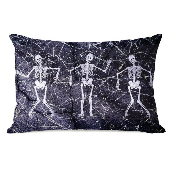 Dancing Skeletons Lumbar Pillow by One Bella Casa