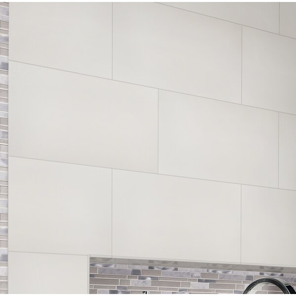 12 x 24 Porcelain Field Tile in White by MSI
