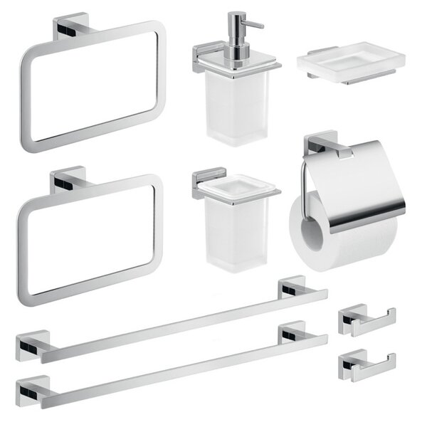 Atena 10 Piece Bathroom Hardware Set by Gedy by Nameeks