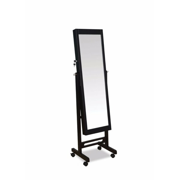 Coots Free Standing Jewelry Armoire with Mirror by Latitude Run