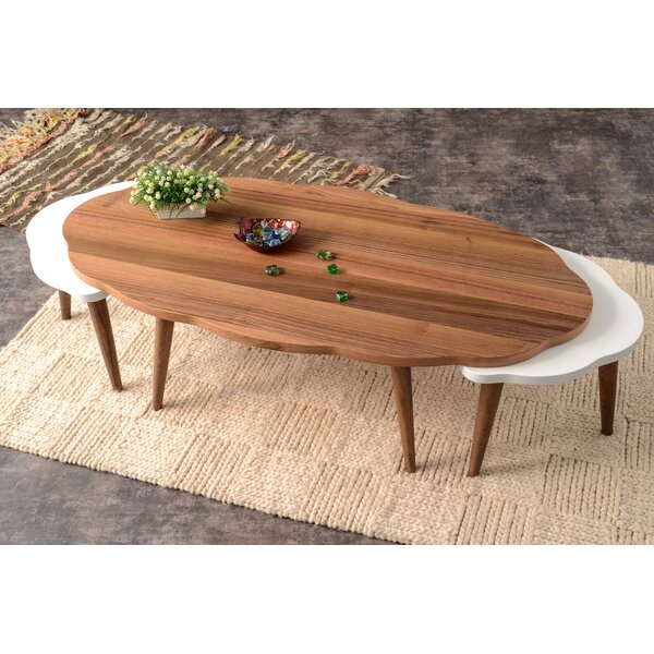 Corrigan Studio Everett 3 Piece Walnut Coffee Table Set | Wayfair