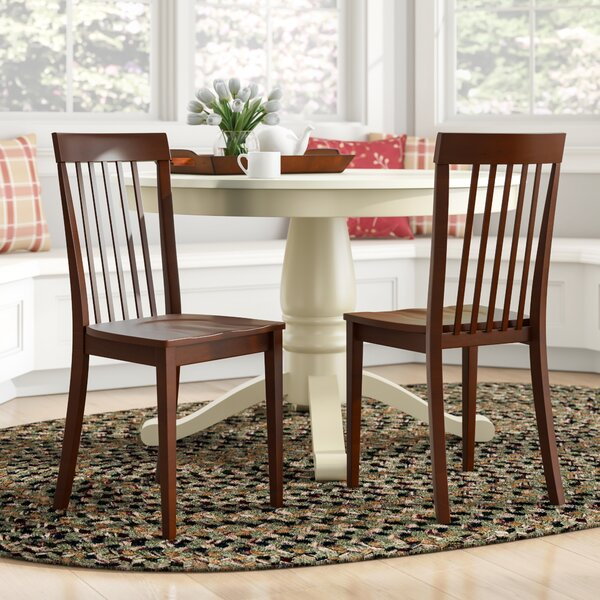 Sunnydale Solid Wood Slat Back Side Chair (Set of 2) by Alcott Hill Alcott Hill