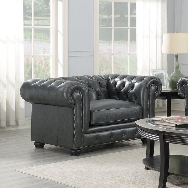Brinson 28-inch Chesterfield Chair by Three Posts Three Posts