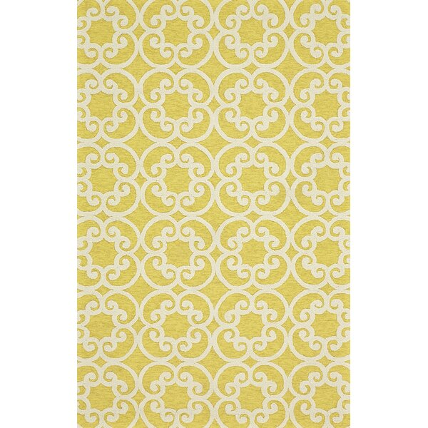 Colley Yellow Indoor/Outdoor Area Rug by Charlton Home