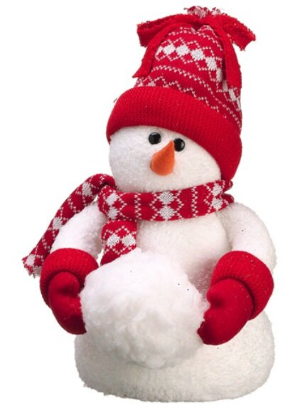 Table Top Knit Cap Winter Snowman Christmas Figure by Tori Home