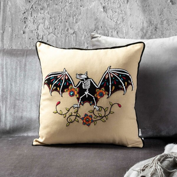 Luna Bat Throw Pillow by The Holiday Aisle