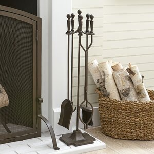 Hanson 4-Piece Fireplace Set