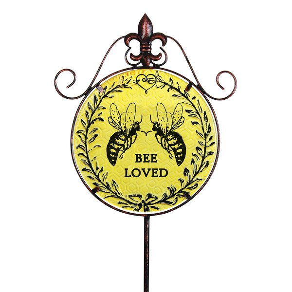 Bee Loved Garden Stake by Exhart