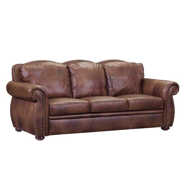 Danieli Leather Sofa By Canora Grey