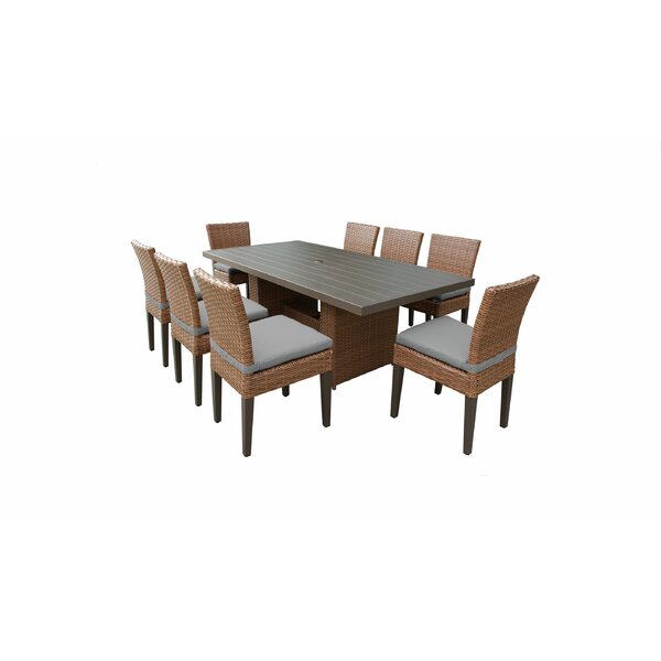 Waterbury Outdoor Patio 9 Piece Dining Set with Cushions by Sol 72 Outdoor
