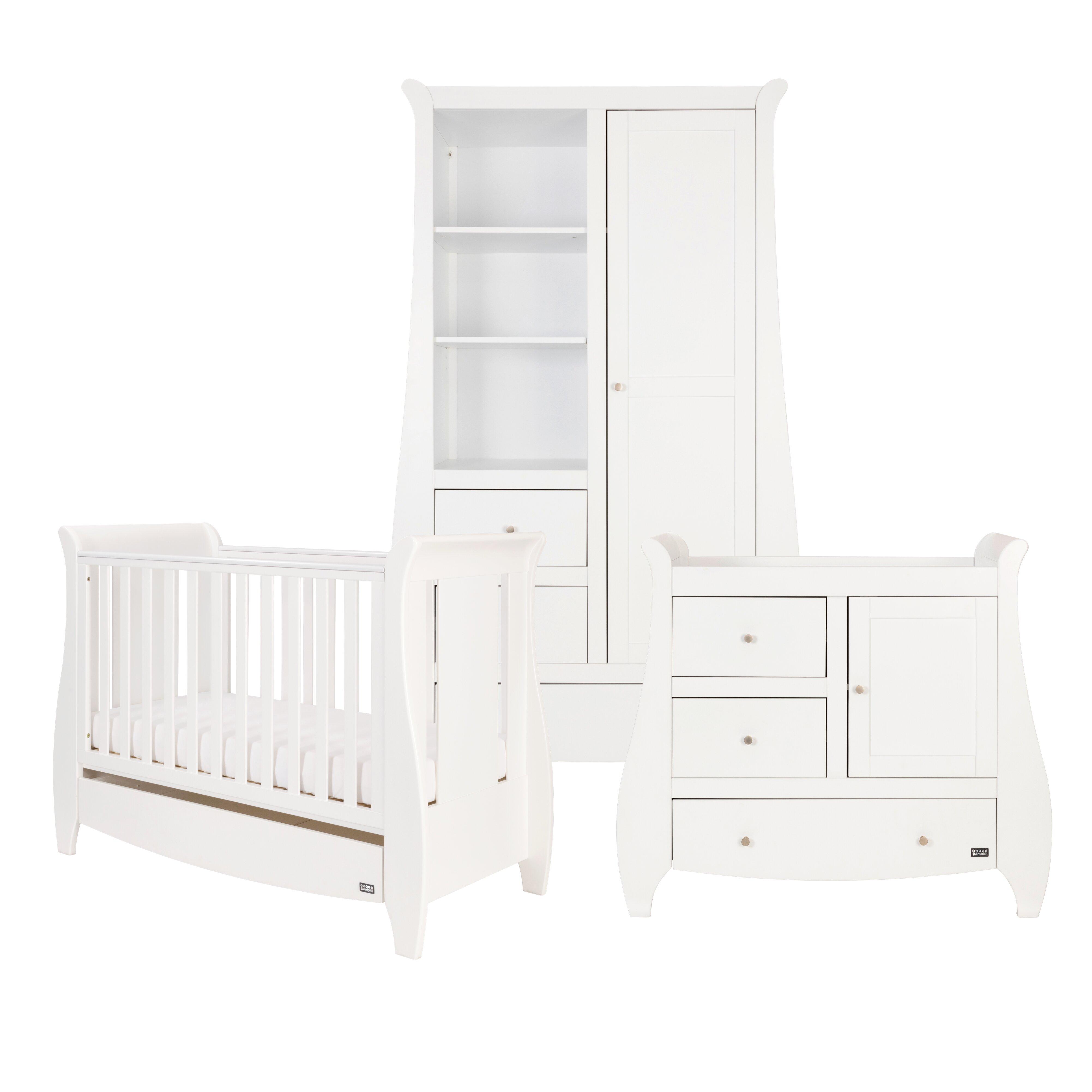 Lucas Cot Bed 3 Piece Nursery Furniture Set