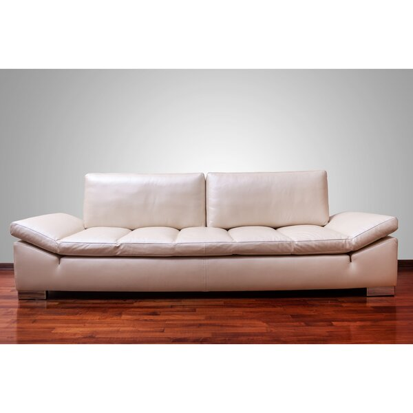Shop Affordable Zoila Leather Sofa by Orren Ellis by Orren Ellis