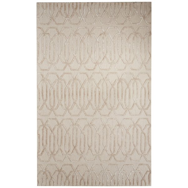 Adelle Hand-Tufted Gray/Ivory Area Rug by Mercer41