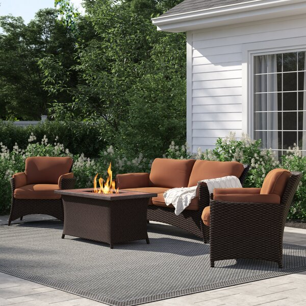 Asherman 4 Piece Sofa Set with Cushions by Sol 72 Outdoor