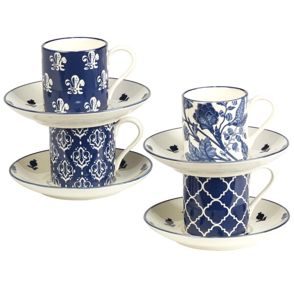 Clair Blue Espresso Cup Set Set Of 4 By Darby Home Co.