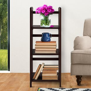 3 Shelf Folding Stackable Standard Bookcase