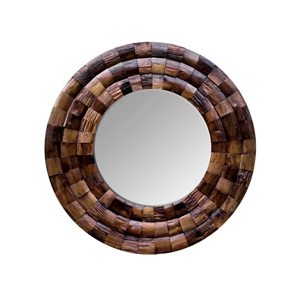 Wine Country Reclaimed Wood Circular Accent Mirror by Varaluz