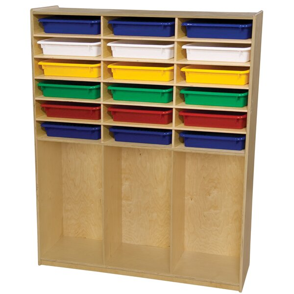 21 Compartment Cubby with Trays by Wood Designs
