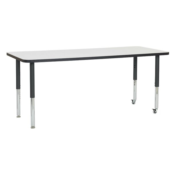Dry-Erase Adjustable 72 x 30 Rectangular Activity Table by ECR4kids