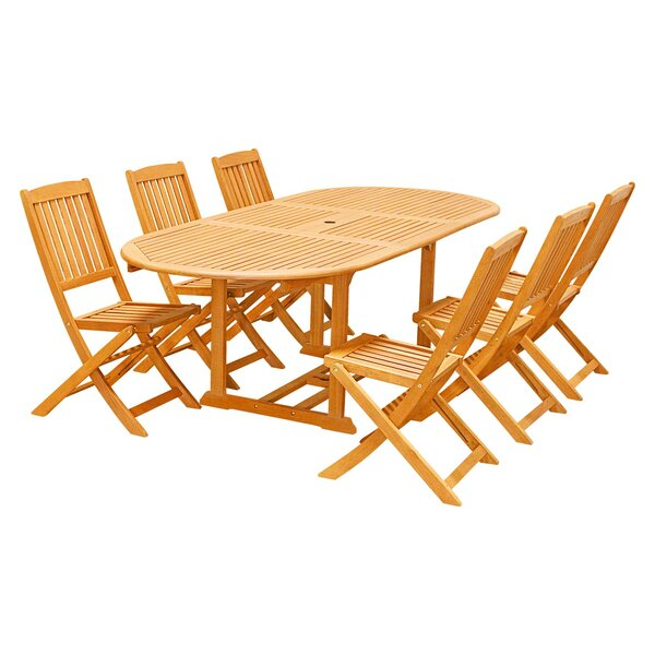 Harrow 7-Piece Dining Set by Rosecliff Heights
