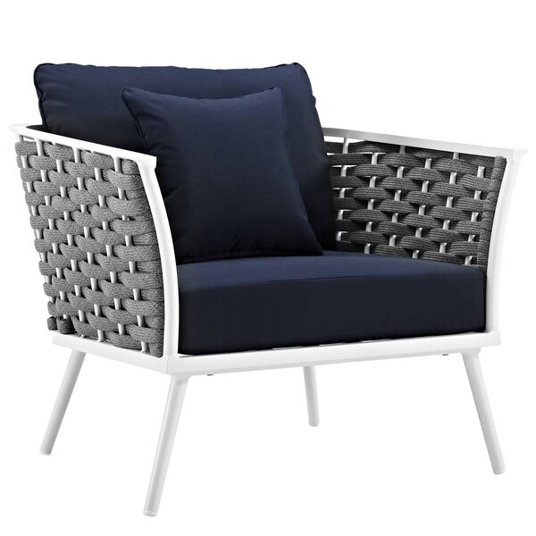 Rossville Patio Chair with Cushions by Ivy Bronx